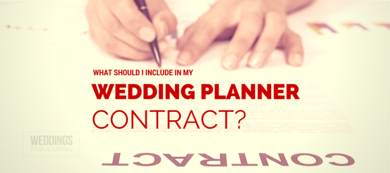 Q: What Should My Wedding Planner Contract Include? - Wfal387