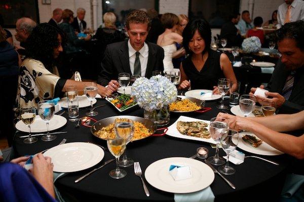 Family-style dining; via simplybridal.com
