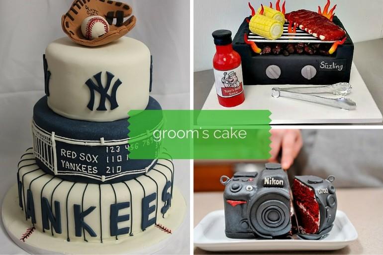 Creative, edible groom's cakes