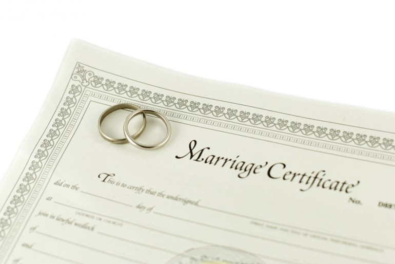 what is a marriage certificate