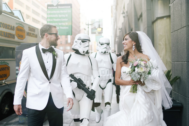 A Star Wars theme wedding