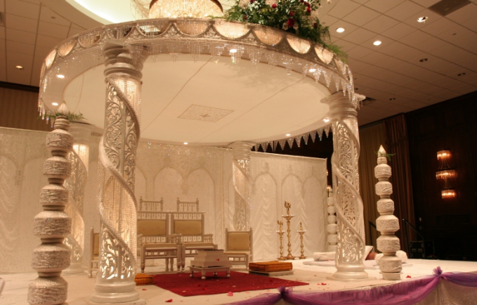 Beautiful white mandap