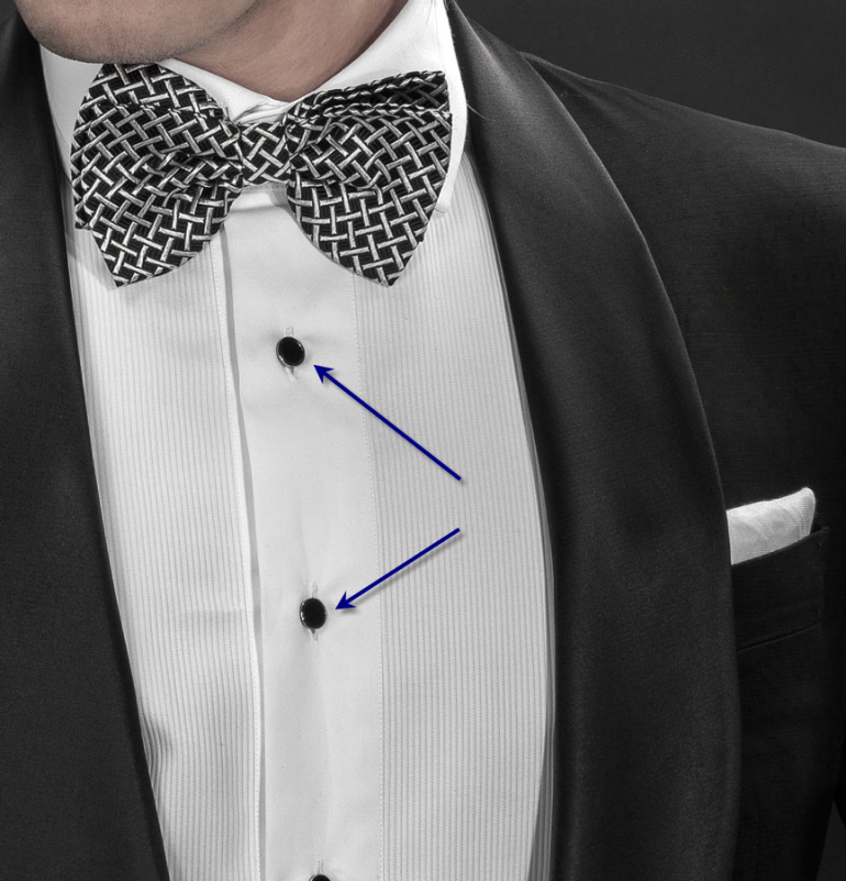 What are tuxedo studs