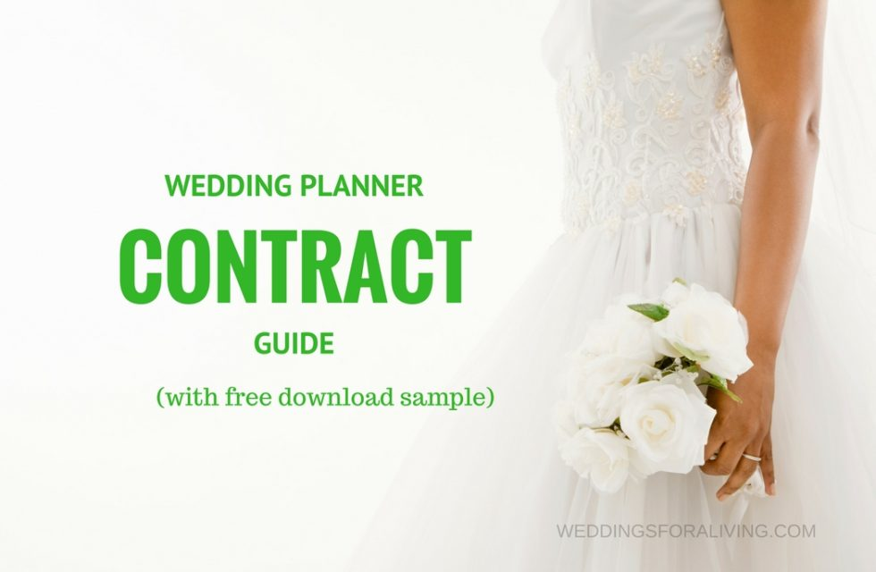 wedding planner contract guide - Sample Wedding Planner Contract