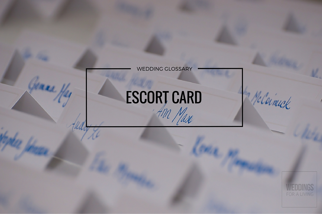 What Does Escort Card Mean Definition Of Escort Card By Weddings