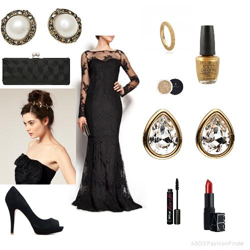 Black tie style for a woman