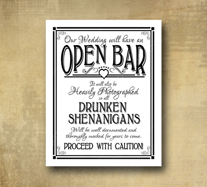 the opposite of an open bar is a cash bar