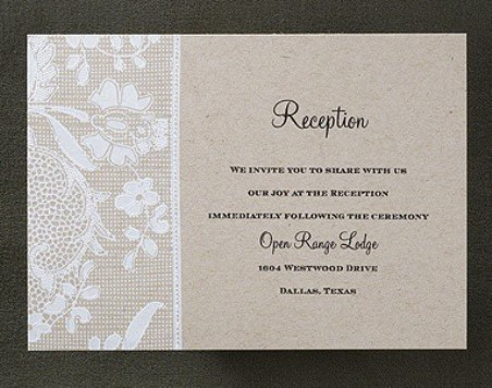 What Is A Reception Card Weddings For Living